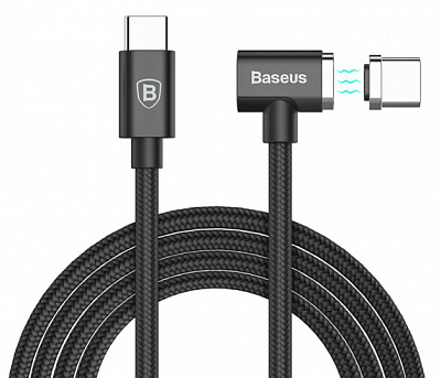 Baseus Magnet Type-C Cable (Side insert For Type-C) 1.5m (Black)